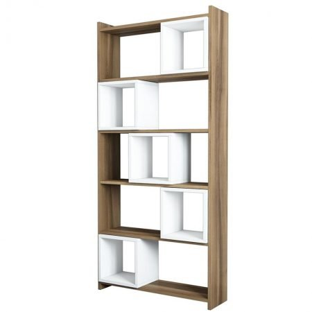 Corp biblioteca Box Walnut White