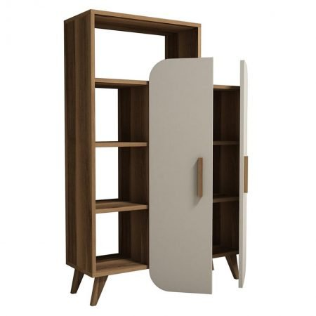 Corp biblioteca Form Walnut Cream